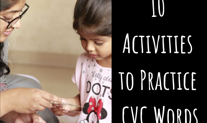 10 Activities to Practice CVC Words and Word Family